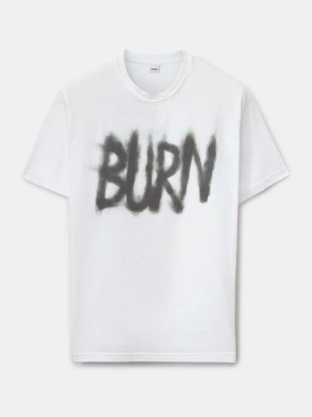 Aspesi T-Shirt Burn weiß